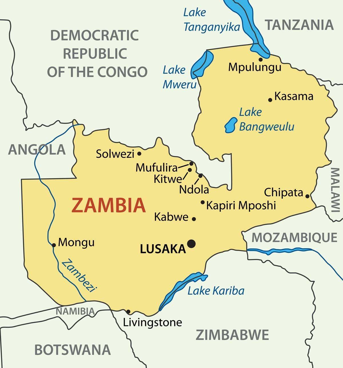 Kitwe Sambia Sambia Kartta Kartta Kitwe Sambia Sambia Ita