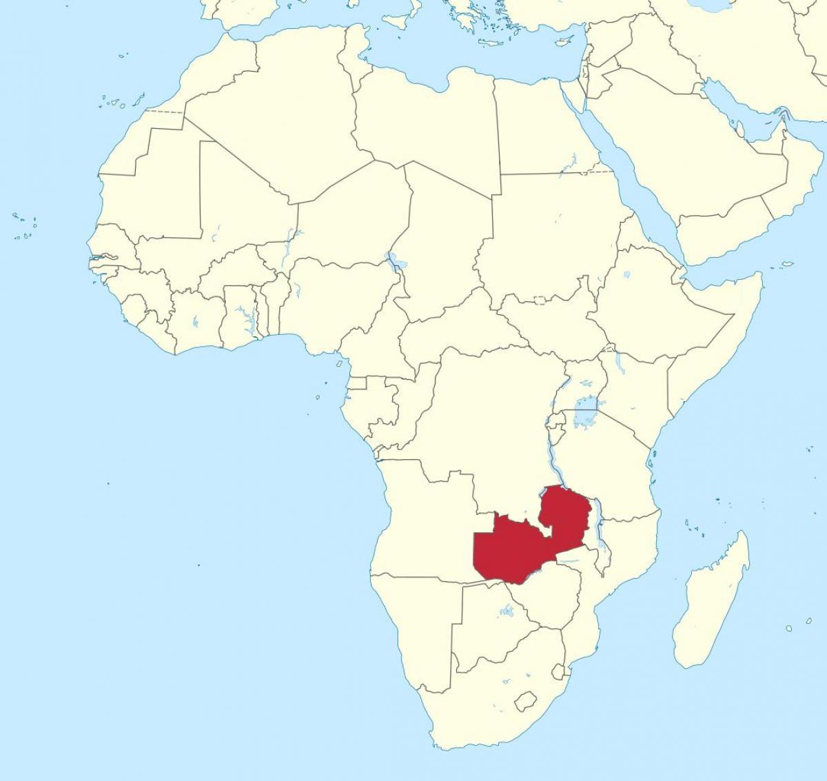 Sambia Afrikan Kartta Kartta Afrikan Osoittaa Sambia Ita