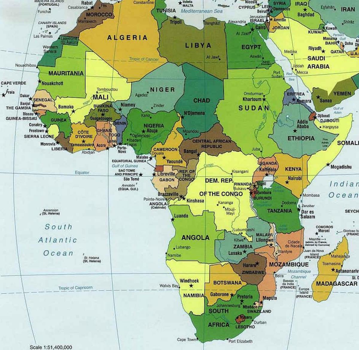 Sambia Etela Afrikka Kartta Kartta Sambia Etela Afrikka Ita
